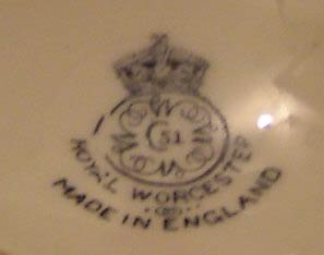 Royal Worcester date stamp 1935